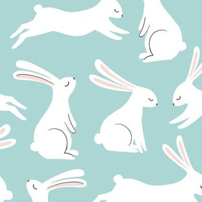 White and Blue Bunnies