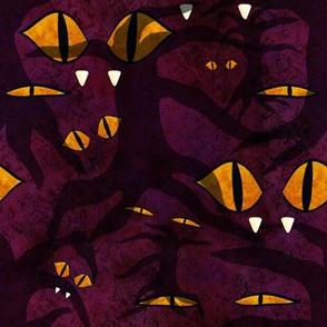 Gothic Halloween - eyes from beyond purple velvet