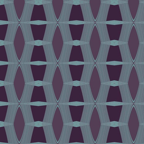 Purple Diamond - Turquoise Lattice