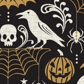 All Hallows' Eve - Black & Gold Large Scale