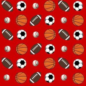 "8"" All Ball Sports Red--Football Soccer Baseball Basketball"
