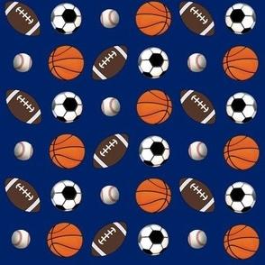"8"" All Ball Sports Blue--Football Soccer Baseball Basketball"