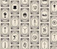 Gothic Tarot Card Pattern