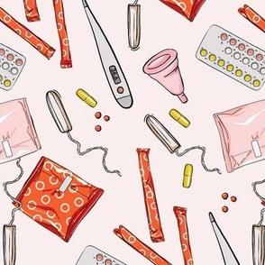 Period tampons napkins
