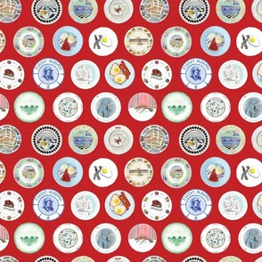 Diner plate fabric