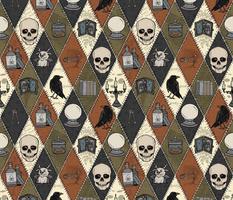 Retro Gothic Halloween Patchwork