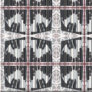 Striped Bats (silver, black, gray and white)