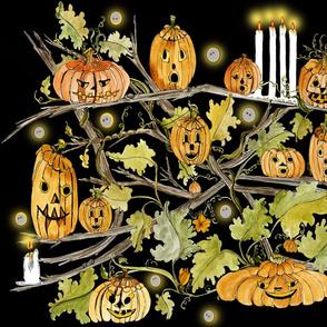 Goth light pumpkin tree 3