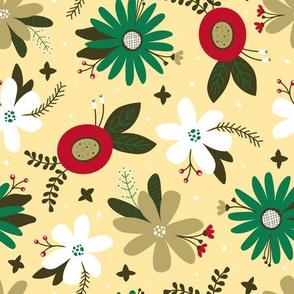 Festive Floral (Cream)