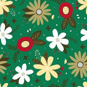 Festive Floral (Green)