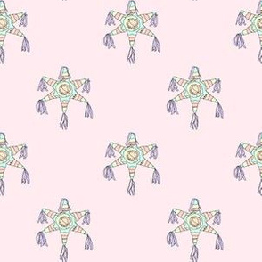 Pinatas Pastel with Pastel Pink Background