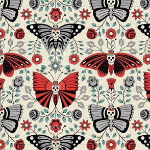Butterflies  and Skulls Light