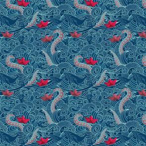 Octopus Ocean Origami Small Scale