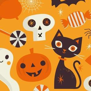 Happy Halloween regular scale light orange
