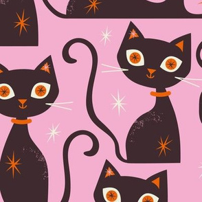 Cats Large scale Pink
