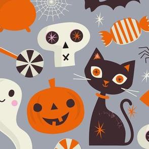 Happy Halloween regular scale Grey