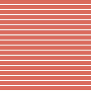 Coral and White Stripes