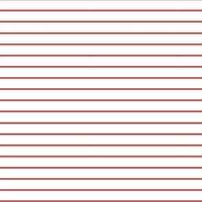 Thin brown stripes over White