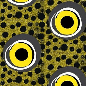 Spooky Eyes in a Dotty Wall - Large Scale