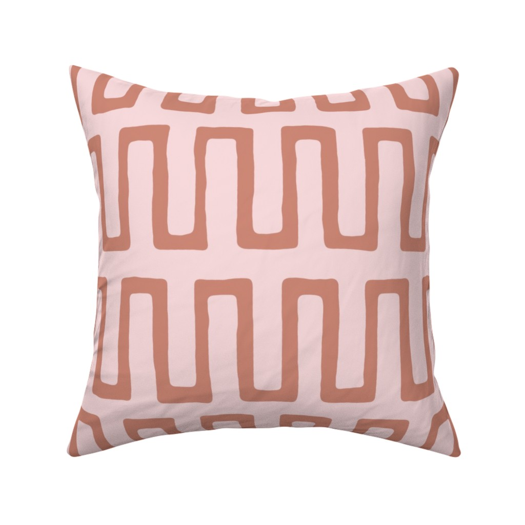 Catalan Throw Pillow featuring Urn in terracotta by domesticate