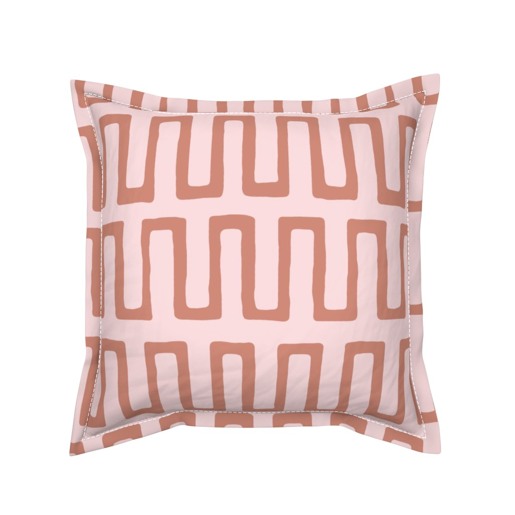 Serama Throw Pillow featuring Urn in terracotta by domesticate