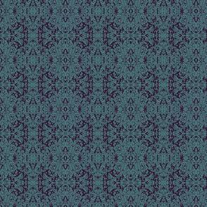 Aqua Blue Ink Print