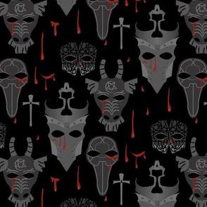 Halloween Da Mask With Blood gray