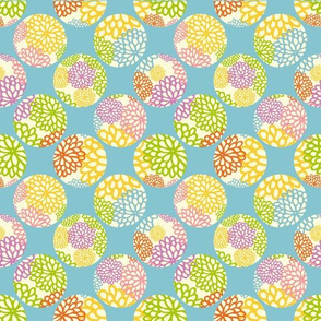 Geometric Floral Collage seamless pattern. Vector illustration.