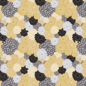Geometric Floral Collage seamless pattern.