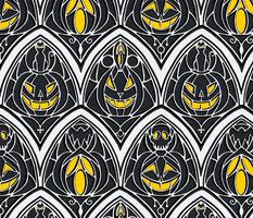 Window Pumpkins - Halloween, pumpkins, gothic, skulls, bats, ghosts, jack o lantern, jack o' lantern
