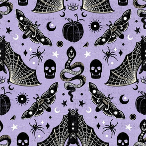 Gothic Halloween Amethyst Purple by Angel Gerardo
