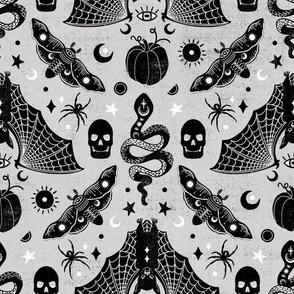 Gothic Halloween Gray Grey by Angel Gerardo