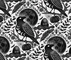 Large Scale Dark Halloween night of Ravens, Night of the Magic