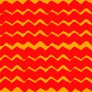 Red and Gold Zig-Zag
