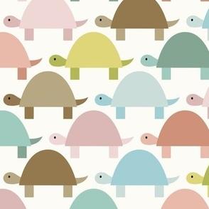 Marching Tortoises - Pastel