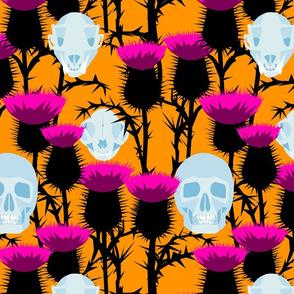 Thistle Halloween Skull Bramble