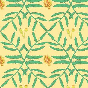 Marigold Leafy Vines Large Scale