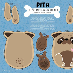 Cut and Sew Pita the Pug