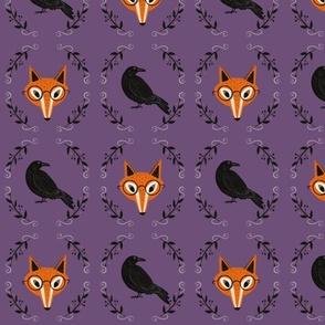 Crow and Fox - purple