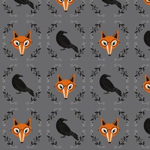 Crow and Fox -dark gray