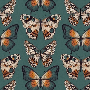 Pinned Butterflies { teal }