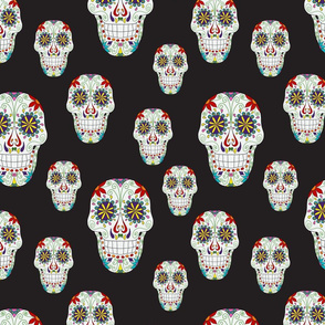 Day of the Dead Black Background