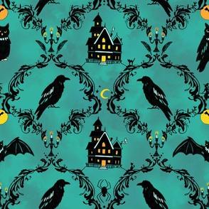 Haunted Raven Damask