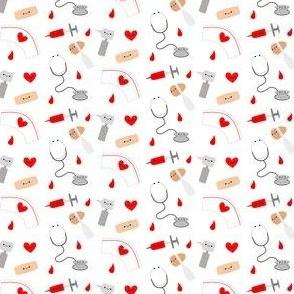 SMALL Happy Nurse and Friends - White
