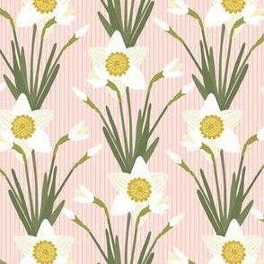 White Daffodils Pink