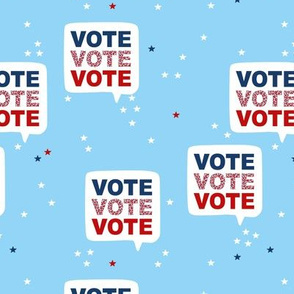 Vote for president please USA elections light blue stars