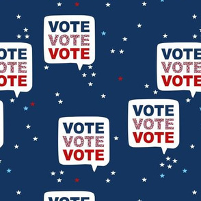Vote for president please USA elections navy night blue stars