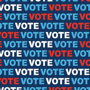 Vote for change typography text design for presidential elections usa blue red navy leopard detailing
