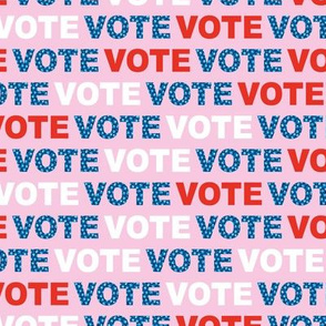 Vote for change typography text design for presidential elections usa blue red pink leopard detailing