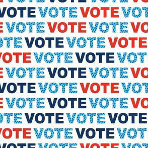 Vote for change typography text design for presidential elections usa blue red white leopard detailing